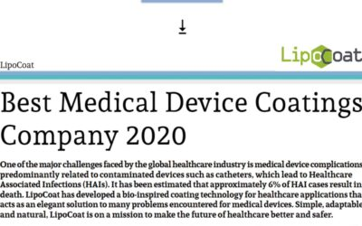 LipoCoat announced as Best Medical Device Coatings Company of 2020