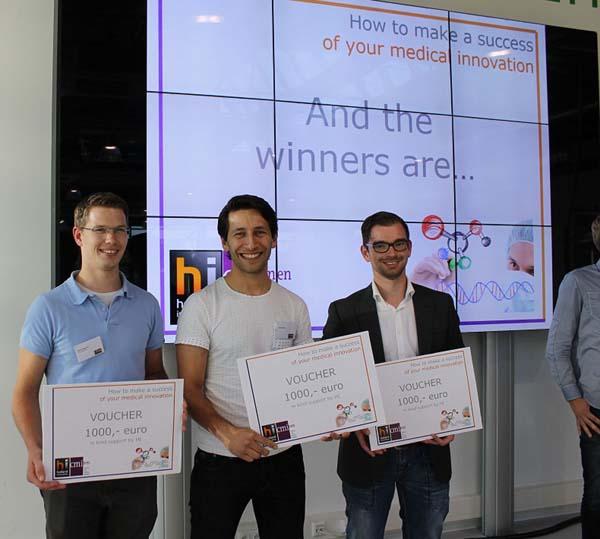 Jasper van Weerd (LipoCoat) winner of best pitch Holland-innovative health event 2015