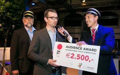Jasper van Weerd (LipoCoat) wins audience award business pitch NanoCity 2015